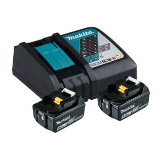 Makita Power Source Kit Li 18V 2 x 5,0Ah Akkus +...