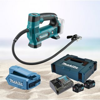 Makita Akku Kompressor MP100DZ + USB Ladestation DEAADP06...